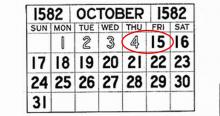 14 Οκτωβριου 1582